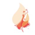 Логотип сайта психолога Наталии Алман Танцующая девушка